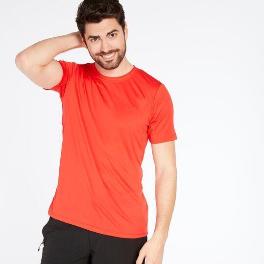 Camiseta Montaña Hombre Boriken Rojo