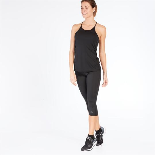 Adidas STEP UP Camiseta Fitness Tirantes Negra Mujer