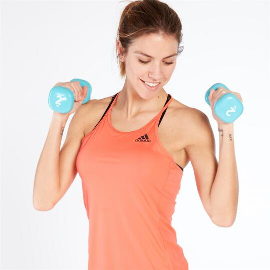 Adidas STEP UP Camiseta Fitness Tirantes Coral Mujer