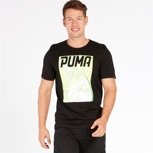 PUMA EXPLOSIVE Camiseta Manga Corta Negra Hombre