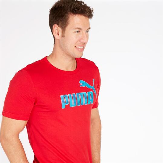 PUMA HERO Camiseta Manga Corta Roja Hombre