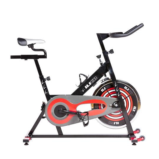 Bicicleta Spinning Piamonte ILICO Negro Rojo