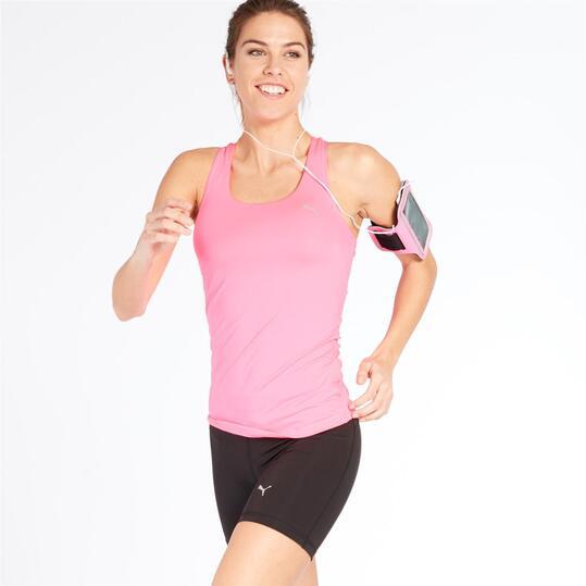 Camiseta Running Tirantes PUMA Fucsia Mujer