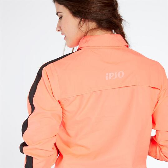 Cortaviento Capucha IPSO COMBI Rosa Mujer