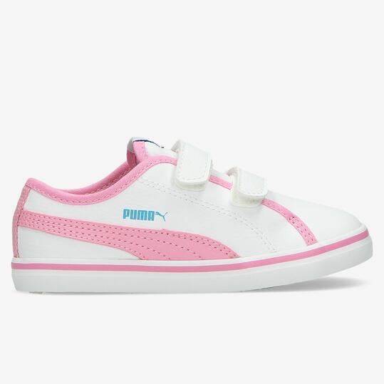 PUMA ELSU Zapatillas Velcro Blancas Niña (20-27)