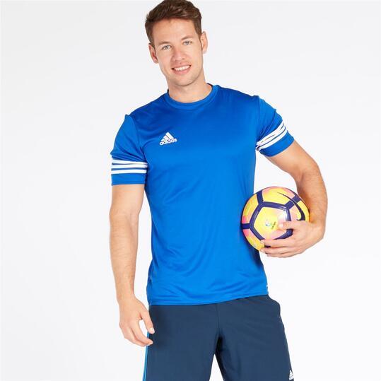 ADIDAS Camiseta Fútbol Azul Hombre