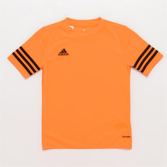 camiseta naranja adidas niño