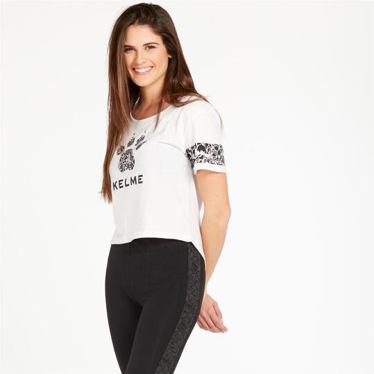 KELME Camiseta Blanco Mujer