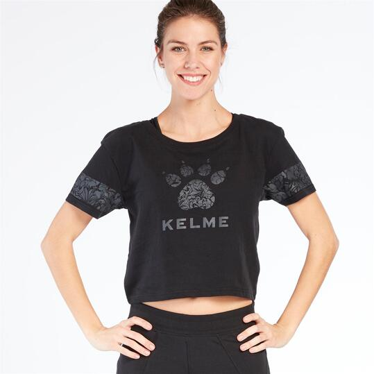 KELME Camiseta Negra Mujer