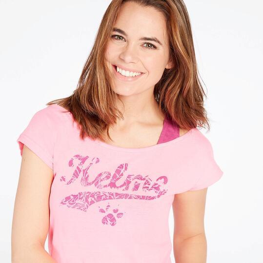 Camiseta Manga Corta KELME Rosa Mujer