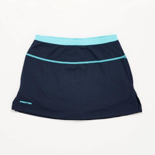 Falda Tenis Azul Marino Celeste Niña Proton
