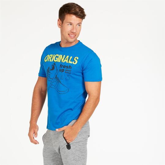 Camiseta UP STAMP Azul Hombre