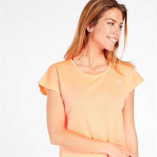 Camiseta Rejilla UP BASIC Coral Mujer