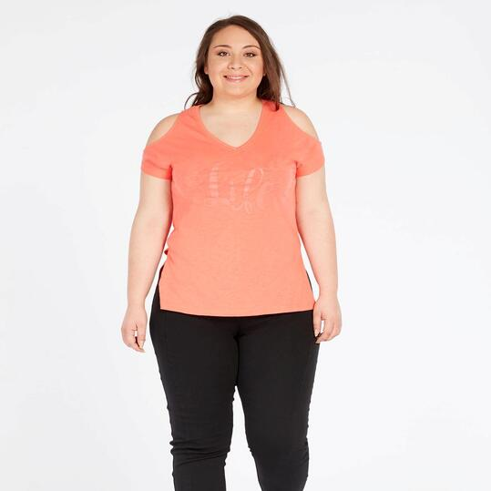 Camiseta Life Lady SILVER Coral Mujer