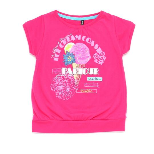 Camiseta SILVER STAMPS Fucsia Niña (2-8)