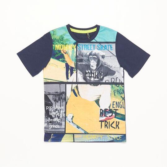 Camiseta Viñetas Silver Skate Niño (10-16)