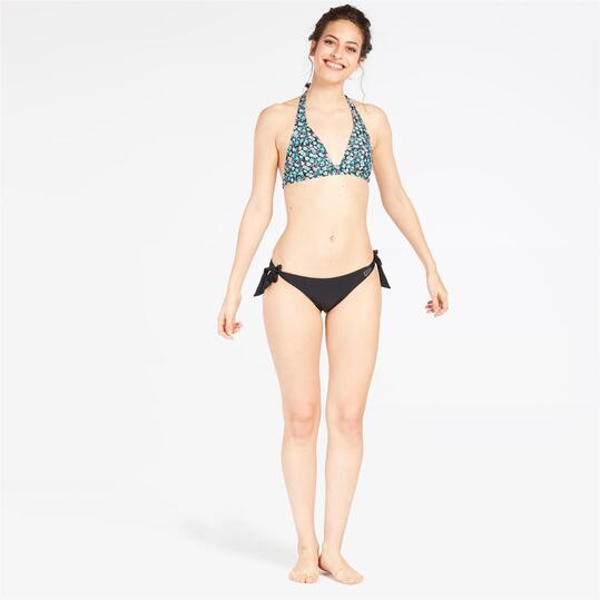Top Bikini Triángulo Flores UP STAMPS