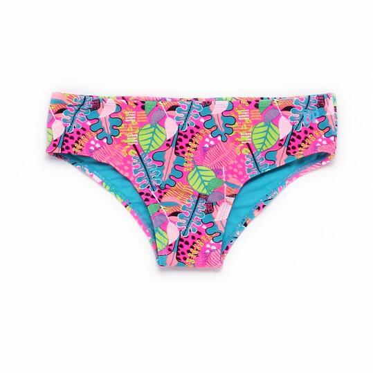 Braguita Bikini Culotte UP STAMPS Hojas Niña (10-16)
