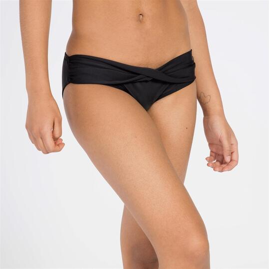 Braga Bikini Cintura Cruzada Negra UP STAMPS