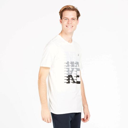 NIKE STRIPES Camiseta Manga Corta Blanca