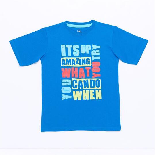 Camiseta UP STAMPS Azul Royal Niño (10-16)