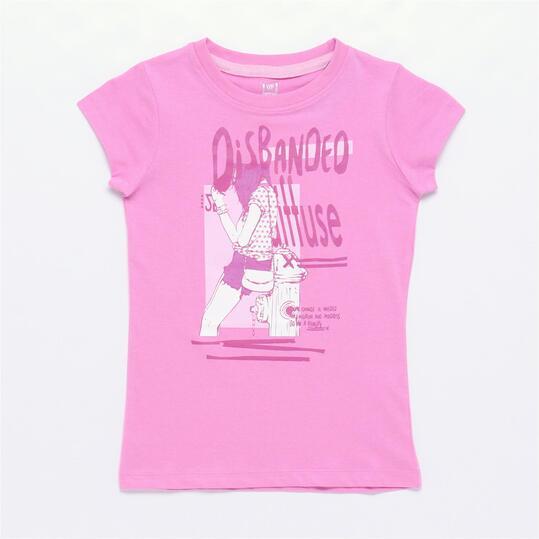 Camiseta UP STAMPS Rosa (10-16)