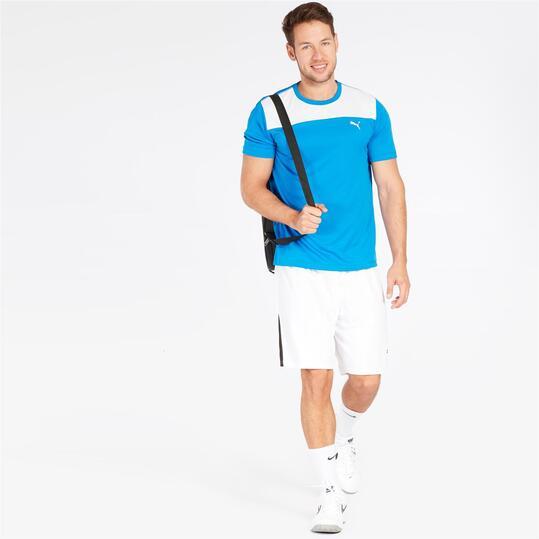 PUMA Camiseta Hombre Azul Blanco Hombre