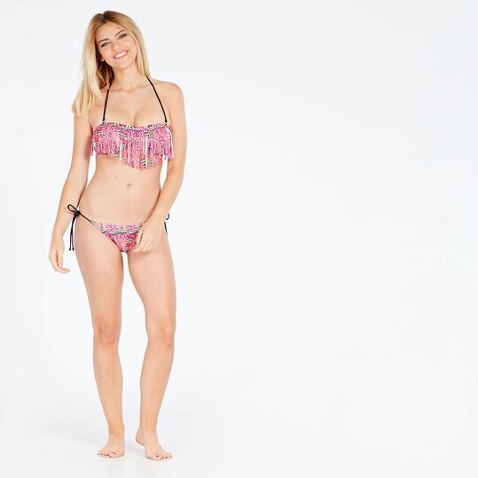 Bikini Flecos Rosa Mujer Silver