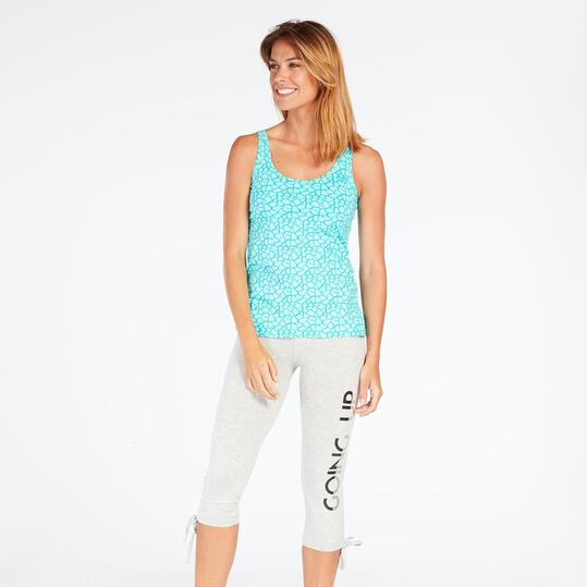 Camiseta Tirantes Azul Up Basic Mujer