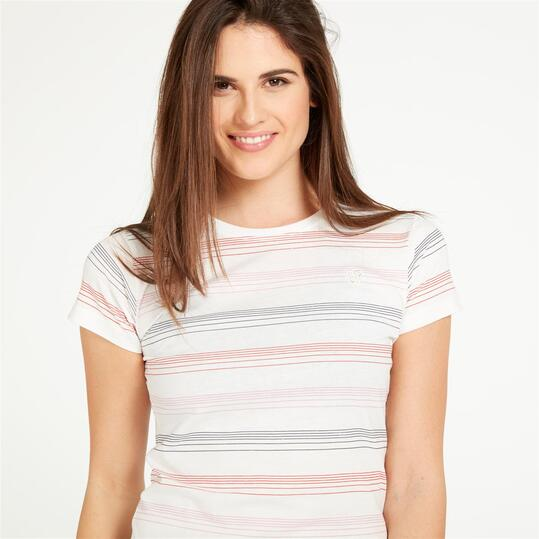 Camiseta UP Blanco Coral Mujer