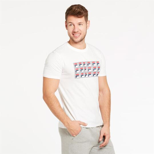 FILA LORENZI Camiseta Blanco Hombre