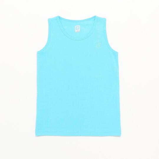 Camiseta Tirante Ancho Up Basic Celeste Niño (2-8)