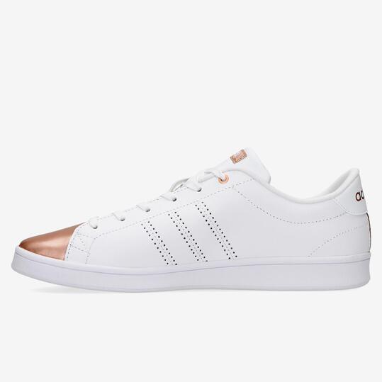 Zapatillas Adidas Advantage Clean Blanco Oro Mujer