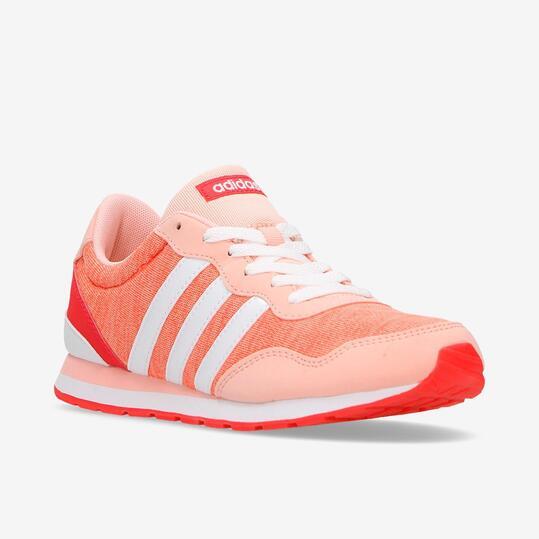 Zapatillas Adidas V Jog Rosa Blanco Niña (36.5-40)