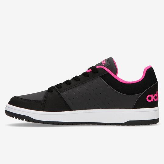 Zapatillas Adidas Vs Hoops Negro Fucsia Niña (36.5-40)