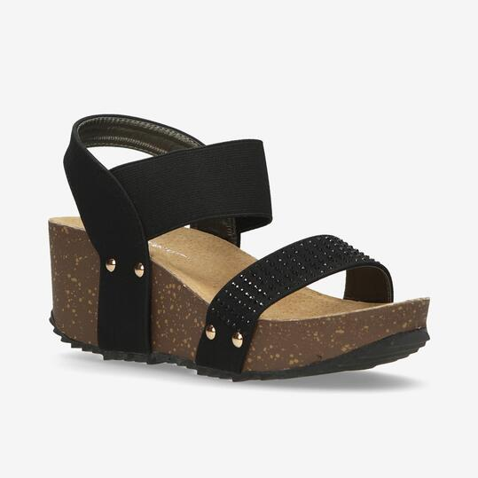 Sandalias Cuña Mujer Nicoboco Cenpe Negro