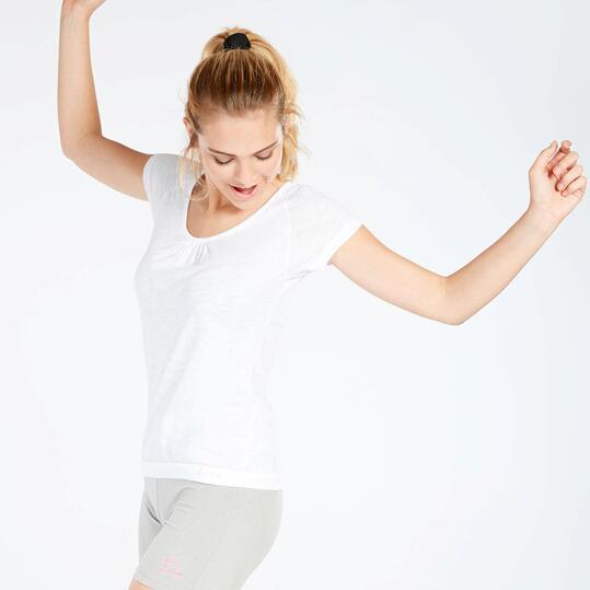 Camiseta Gimnasio Mujer Ilico Blanco