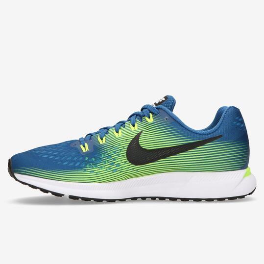 Zapatillas Running Nike Air Zoom Pegasus 34 Azul Verde Hombre