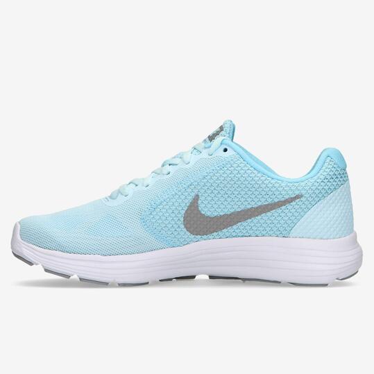 Zapatillas Nike Revolution 3 Celeste Mujer