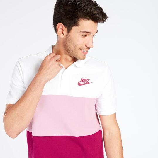 Polo Manga Corta Nike Tricolor Hombre