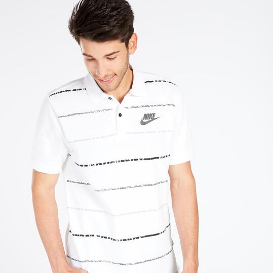 Pola Nike Blanco Rayas Hombre