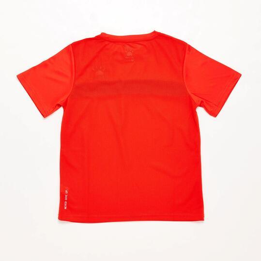 Camiseta Fútbol Niño Kelme Rojo Negro