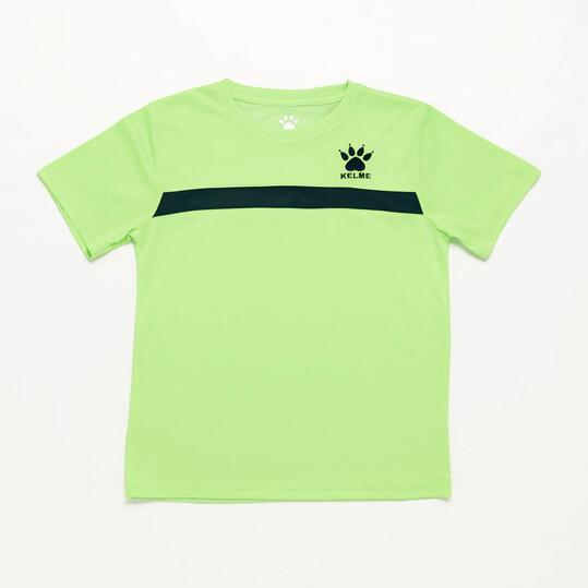 Camiseta Fútbol Niño Kelme Verde Marino