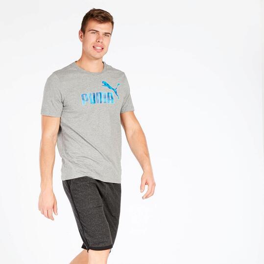 Camiseta Hombre Puma Gris Puma Hero