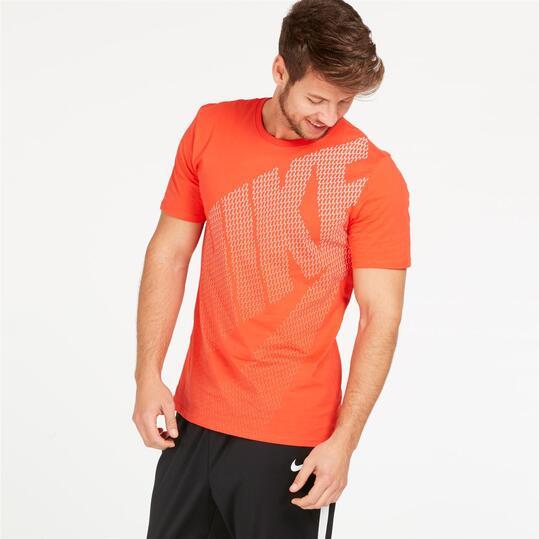 camisetas nike hombre naranja
