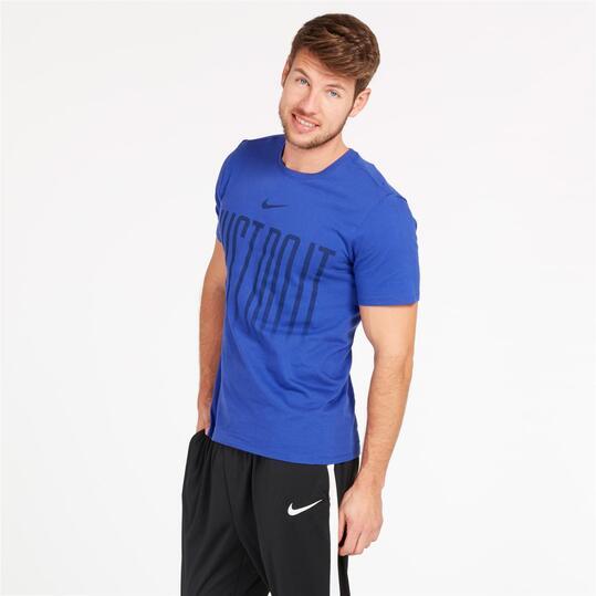 NIKE Camiseta Azul Hombre