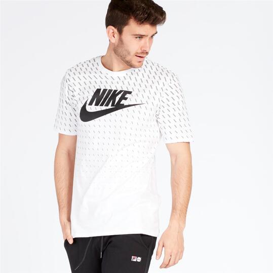 NIKE FUTURA Camiseta Manga Corta Blanco Hombre