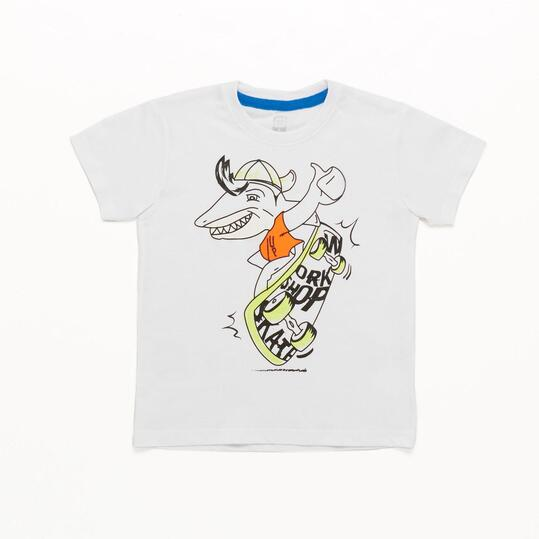 Camiseta UP STAMPS Blanco Niño (2-8)