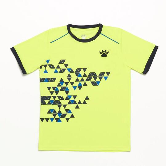 Camiseta Manga Corta KELME Amarillo Niño (8-16)
