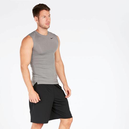 Camiseta Running Sin Mangas Gris Nike